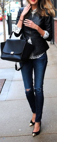 This outfit is absolutely perfect for a casual day at the office. This outfit is absolutely perfect for a casual day at the office. Street Style Outfits, Looks Street Style, Looks Style, Winter Outfits, Look Fashion, Womens Fashion, Fashion Trends, Street Fashion, Street Chic