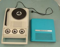portable record player made by Barrington, exclusively for the Japanese market, from the 1960′s