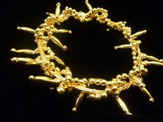 Gold Crown of Thorns 2 sizes by HandcraftedOrnaments on Etsy