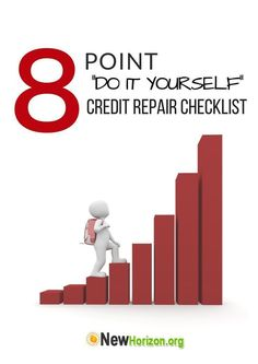 """Tired of bad credit? Start improving your credit score with our """"DIY Credit Repair Checklist!"""""""