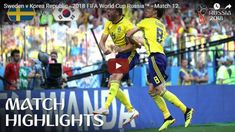 FIFA World Cup Sweden vs South Korea Highlights: Andreas Granqvist scored the solitary goal in the game from the penalty spot. World Cup Russia 2018, World Cup 2018, Fifa World Cup, Soccer Tournament, Basketball Court, World Cup Match, Match Highlights, International Football, The Championship