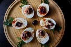 "Enjoy these healthy ""deviled"" eggs this Easter! #holiday #healthy #recipe"