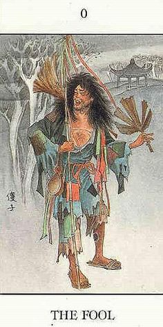 The Fool - Chinese Tarot by Jui Guoliang Tattoo Prague, Tarot The Fool, Sacred Art Tattoo, What Is Amazing, Tarot Major Arcana, Chinese Art, Tarot Cards, Rock Art, Art Forms