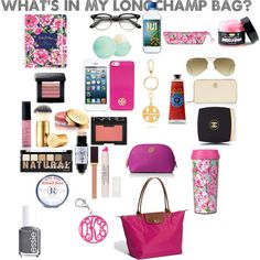 LOVE COLOR OF LONGCHAMP Whats in my Longchamp bag?
