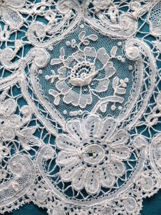 Antique/vintage Brussels Duchesse and Point de Gaze lace bertha