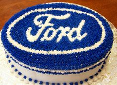 Ford Emblem - This is a ford emblem I did for a friends 60th birthday.   All Buttercream.