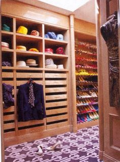 Shoe and hat storage.  look at all those pull out drawers for ties, socks, jewelry etc