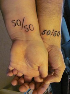 Engagment 50/50 tattoos