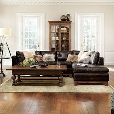 Embracing the neutral palettes and minimalist approach of this popular style our Garner Leather Sectional & 14 best Sectional Sofas images on Pinterest | Sectional sofas ...