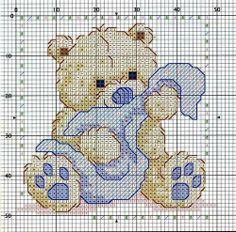 Gráfico ponto cruz - Urso.