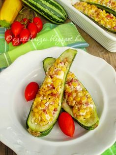 Hungarian Recipes, Avocado Egg, Healthy Life, Zucchini, Grilling, Bacon, Food And Drink, Gluten, Eggs