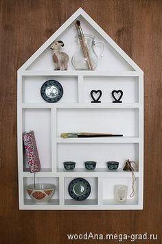 Деревянный домик для декора № 2 - деревянная мебель, полки. МегаГрад - портал авторской ручной работы