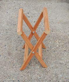 How to make a folding camp stool Folding Furniture, Woodworking Furniture, Furniture Plans, Diy Furniture, System Furniture, Furniture Design, Table Camping, Camping Stool, Van Camping