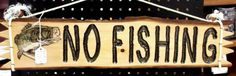 No Fishing Sign With Bass by CorteseCreations on Etsy