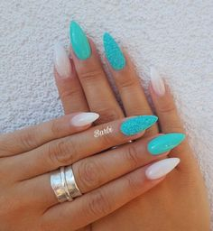 ✔ 40 cute acrylic nails designs to inspire your winter holiday . ✔ 40 cute acrylic nails designs to inspire your winter holiday Cute Acrylic Nail Designs, Cute Acrylic Nails, Nail Art Designs, Nails Design, Mint Nail Designs, Turquoise Nail Designs, Hair And Nails, My Nails, Teal Nails