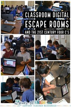 """Read how teachers are using this fun tech-infused strategy. Digital breakouts have become one of the top collaborative activities that students love. Teachers promote small group activities where students truly work together and take an interest in the task. A digital escape room doesn't require a """"leader."""" I believe this is the case due to the classroom escape room presenting a central problem to solve. #classroom #edtech #middleschoolteacher"""