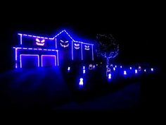▶ Halloween Light Show 2013 - Blurred Lines - YouTube
