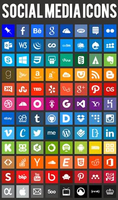 Simple Icons - 100 PNG icons in eleven sizes, from 16px to 4096px #icon #png #social