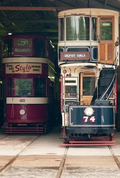 A Rainy Day at Crich Tramway Museum Tramway, Vintage Dance, Birmingham Uk, Listed Building, Light Rail, Rustic Cottage, Peak District, Derbyshire, Small Island