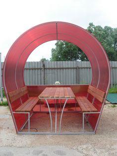 Round Patio Furniture Design Ideas For 2019 Rustic Outdoor Furniture, Metal Patio Furniture, Iron Furniture, Furniture Design, Palette Garden Furniture, Pallet Furniture Shelves, Welding Design, Gazebo Plans, Country Interior Design