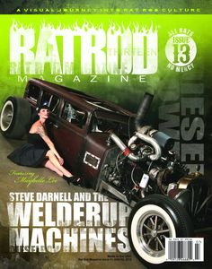 Our photo on cover of Rat Rod Mag issue 13! Out now!!!!! <3