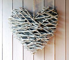 stick heart.  I think I could make this.  It could be extra special if you collect the sticks with the one you love.