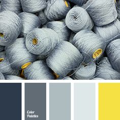 Monochrome combination of shades of gray will look quite boring without a bright colour that is accenting attention on itself. You can use yellow as such c.