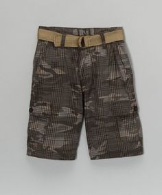 Take a look at this Gray Camo Cargo Shorts - Boys by Perfect for Play: Kids' Apparel on #zulily today!#fall