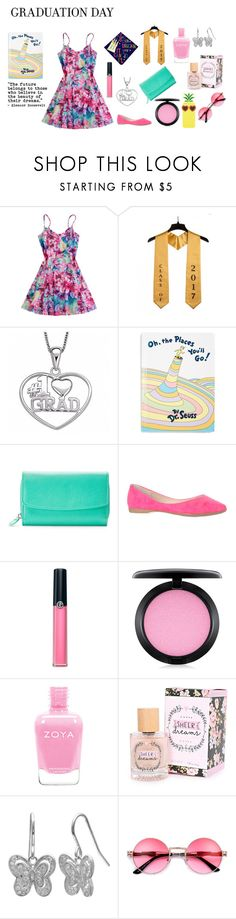 """Graduation Day"" by xo-angelcakes-xo ❤ liked on Polyvore featuring Disney, Penguin Random House, Croft & Barrow, Armani Beauty, MAC Cosmetics, Primrose, Charlotte Russe and Graduation"