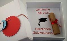 Glückwunschkarten - Abitur, Prüfung Geldgeschenk - ein Designerstück von Lillistadt bei DaWanda