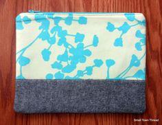 Belle Trendy Zip Pouch by SmallTownThread on Etsy, $22.00