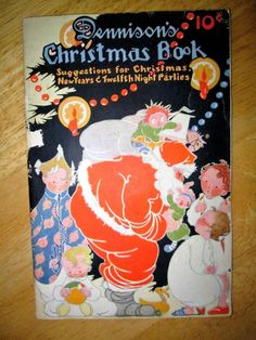 1924 rare art deco dennisons christmas book for parties christmas new years the night before christmas