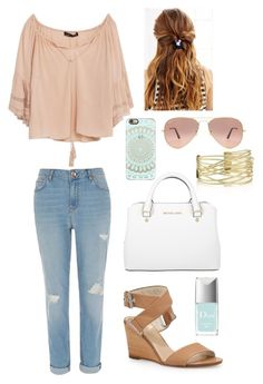 Go With the Flow by mmanning2202 on Polyvore featuring polyvore, fashion, style, Zara, River Island, rag & bone, Michael Kors, Casetify, Ray-Ban, Urban Outfitters, Christian Dior and clothing