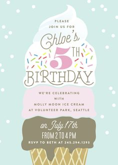 You scream, I scream, we all scream for ice cream! Plan a fun summer birthday party with this ice cream theme from Minted.