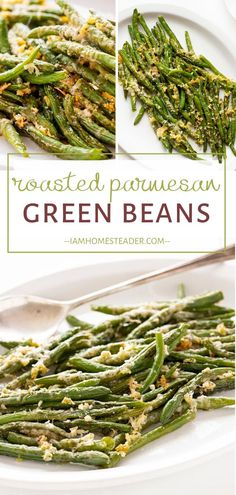 The perfect side dish to go with your St. Roasted Parmesan Green Beans are crispy on the outside, and tender and juicy on the inside. Every bite is loaded with amazing flavor! Pin this St. Patrick's Day recipe for later! Dinner Side Dishes, Dinner Sides, Side Dishes Easy, Side Dish Recipes, Dinner Recipes, Corn Recipes, Party Recipes, Dinner Menu, Pumpkin Recipes