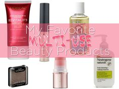 Whether you're in a hurry or on-the-go, multi-use products can take the stress out of your beauty routine! Take a look at my faves. | SlashedBeauty.com