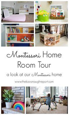 A Montessori home room by room tour.