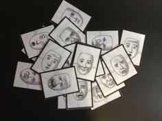 My favorite emotion face cards; how I made them.