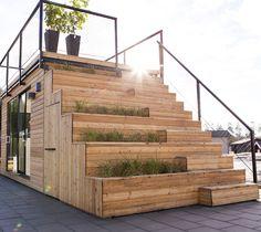 Smart løsning - tilbygning + tagterrasse i ét stykke...
