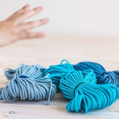 Time for macrame or crochet projects from colorful natural linen cords :] Macrame Supplies, Crochet Supplies, Knitting Supplies, Macrame Projects, Crochet Projects, Crochet Cord, Macrame Cord, Tote Pattern, Chunky Yarn