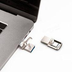 EAGET CU20 USB3.0 Type-C Pendrive USB OTG Type C 16GB 32GB 64GB Metal USB Flash Drive Dual Plug Sale - Banggood.com Mac Os 9, Goods And Service Tax, Usb Flash Drive, Mobile Phones, Apple, Mini, Products, Apple Fruit, Apples