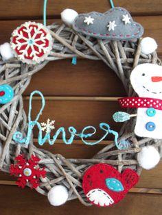 Navidad corona de adviento on pinterest - Decoration bleu turquoise ...