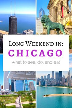 Planning a long weekend in Chicago? >> Great resource for the top things to do, see, and eat! | http://www.apassionandapassport.com