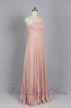 2016 Empire Crytal Chiffon Evening Dresses Long Elegant Prom Dress Robe De Soiree Formal Gowns