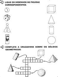 Resultado de imagem para geometria alfabetização