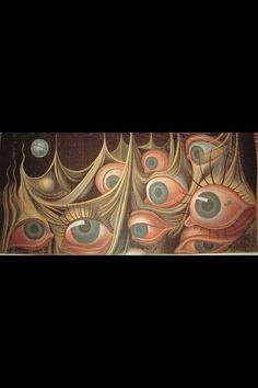 Set design for (my favorite hitchcock film) Spellbound by Salvador Dali Salvador Dali Art, Dali Paintings, Spanish Artists, Museum Exhibition, Nocturne, Monster, Art Plastique, Dark Art, Cool Art
