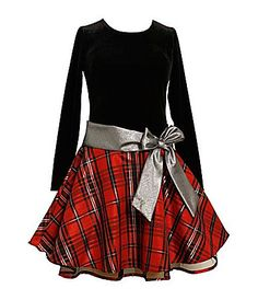 Bonnie Jean 716 Plaid Hipster DropWaist Dress #Dillards