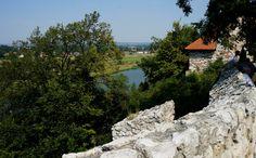Kraków-Tyniec-widok z murów na dziedzińcu Opactwa Benedyktynów.