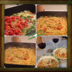 Martha Stewart 1pan pasta done my way. #EasyMeals #HealthyEating #EggPasta #DinnerForTwo #ILoveCooking