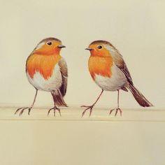 Hans and Lida Marjan Imminkhuizen - Painting & Drawing House Painting, Painting & Drawing, Hand Painted Walls, Tier Fotos, Bird Pictures, Chalk Art, Bird Art, Beautiful Birds, Painting Inspiration